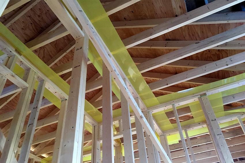 施工中の構造
