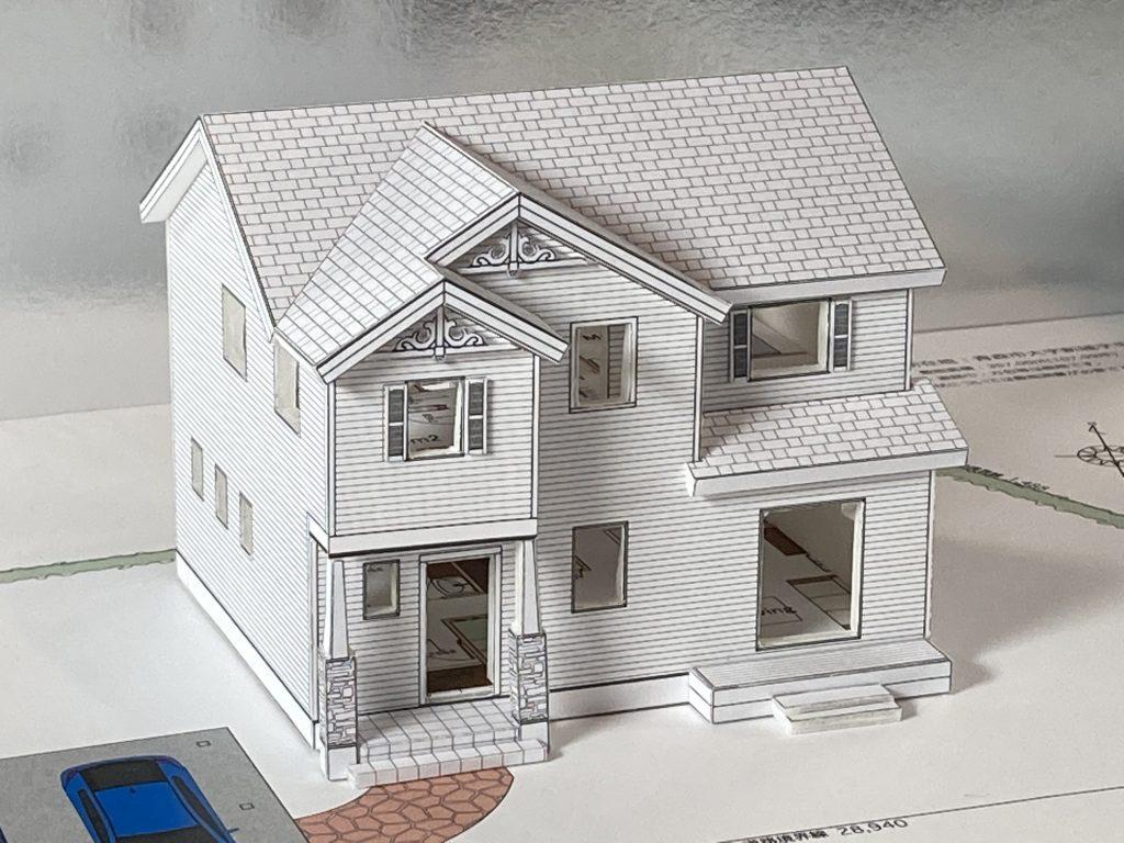 住宅模型をお渡ししました